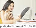 女人寵物生活方式業務 47133630