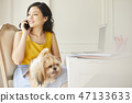 女人寵物生活方式業務 47133633
