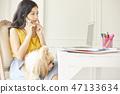 女人寵物生活方式業務 47133634