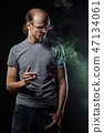 male, cigarette, man 47134061