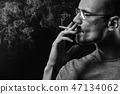 smoke, male, cigarette 47134062