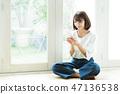 婦女智能手機生活少婦生活方式 47136538