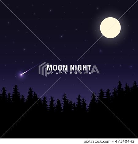 밤하늘의 배경 이미지. 47140442