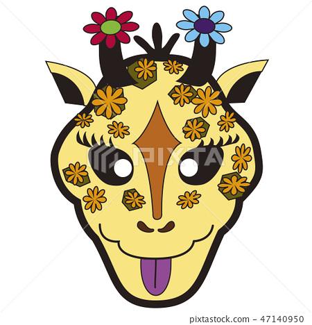 Fashionable giraffe 47140950