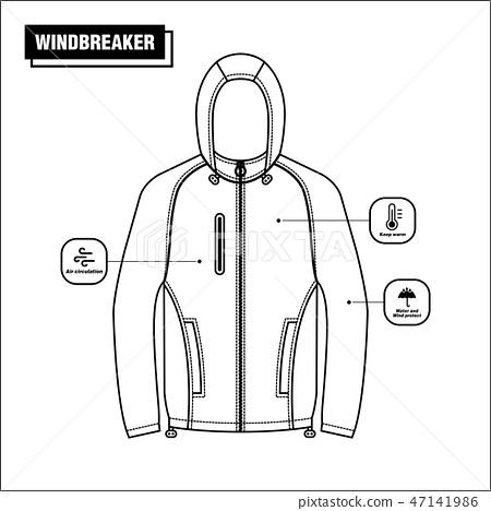 Windbreaker jacket vector design 47141986