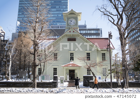 Sapporo clock tower (after renovation in 2018) 47145072