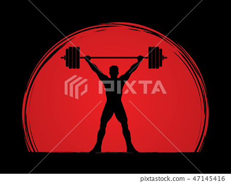 Weight Lifting shape graphic vector 47145416