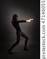 Girl in Black with Gun 47146055