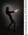 Girl in Black with Gun 47146056