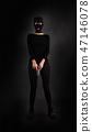 Girl in Black with Gun 47146078