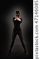 Girl in Black with Gun 47146085