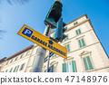 이탈리아 피렌체의 거리 신호등 표지판 47148976