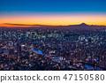 """""""日本的最佳景觀""""東京的夜景 - 富士山的景色""""從天空樹觀景台"""" 47150580"""