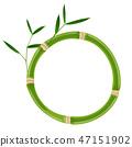 Green bamboo circle frame 47151902