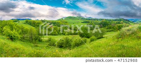 beautiful countryside panorama in springtime 47152988