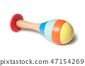colorful wooden maracas toy on white background 47154269