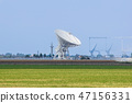 The observatory in the evening,The silhouette of a radio telescope 47156331