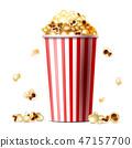 Popcorn bucket realistic illustration 47157700