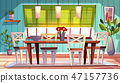 Dining room interior illustration 47157736