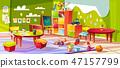 Kindergarten room interior illustration 47157799