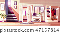 Hallway room interior illustration 47157814