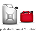 Gasoline canister realistic 3D illustration 47157847