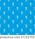 Medal pattern vector seamless blue 47162703