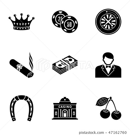 Establishment icons set, simple style 47162760