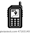 Hiking gps device icon, simple style 47163140