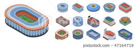 Arena icon set, isometric style 47164719