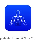 Muscular man with tattoo icon digital blue 47165218