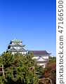 Nagoya Castle castle tower in the late fall 47166500