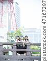 女学生札幌学校旅行电视塔 47167297