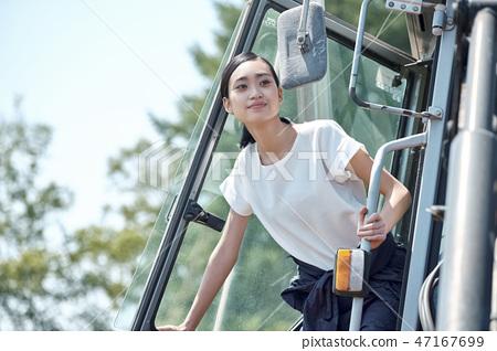婦女農業拖拉機 47167699