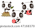 Life, ball, stump, play of pretty panda 47168370