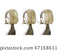女性 - 面部表情(個人資料) 47168631