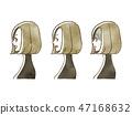 女性 - 面部表情(個人資料) 47168632