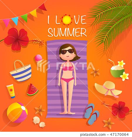 I love summer 47170064