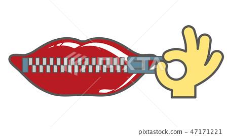 嘴夾頭(像徽標) 47171221