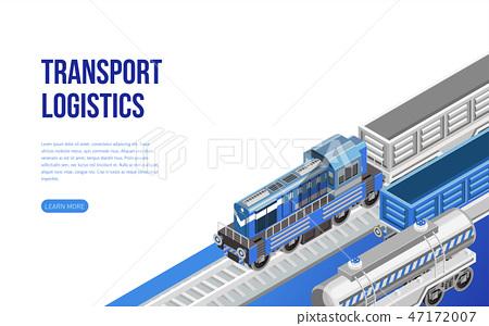 Train on railroad near transport logistics    - Stock