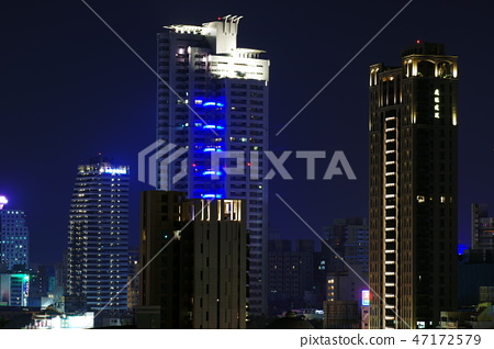 高雄夜景,台灣,摩天大樓, 47172579
