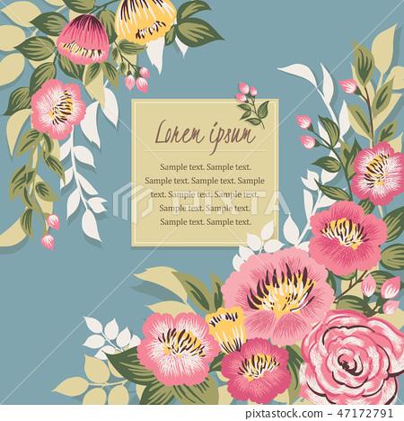 Vector illustration of a floral frame 47172791