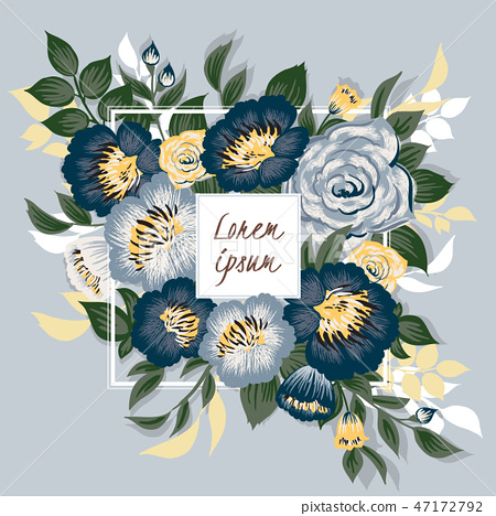 Vector illustration of a floral bouquet 47172792