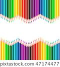 Color pencils background 47174477
