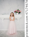 cute little girl in dress 47174678