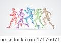 運動員 馬拉松賽跑 奔跑者 47176071