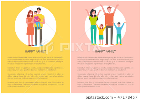 Happy Family Spend Time Together. Parents and kids 47178457