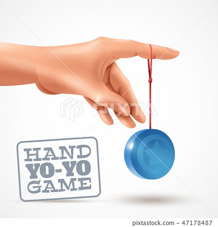 Hand Yoyo Game Background 47178487