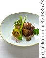 Braised pork corner 47188673