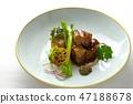 Braised pork corner 47188678